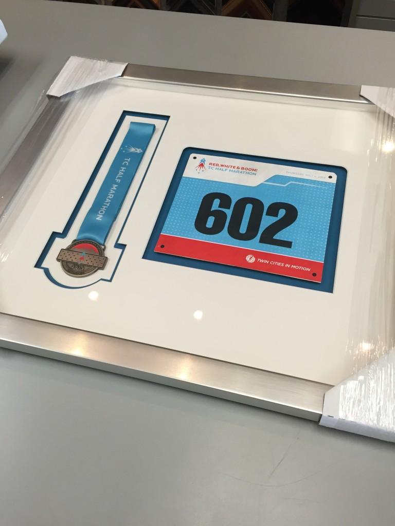 Custom Framed Running Medals