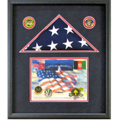 Bloomington, MN Flag and Certificate Shadow Box